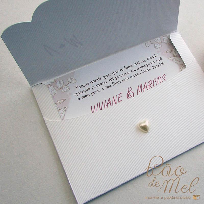 Convite Casamento Blush rosê