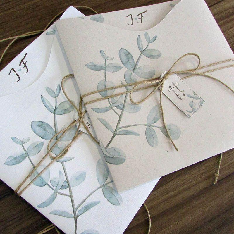 Convite de Casamento Botânico