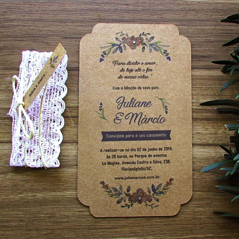 Convite Casamento Chamego