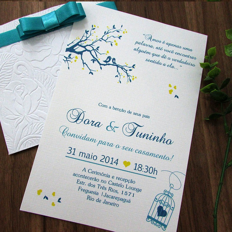 Convite Casamento Corações