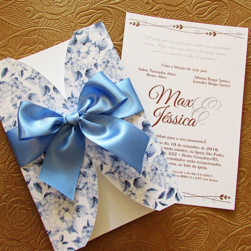 Convite Casamento Delicatta