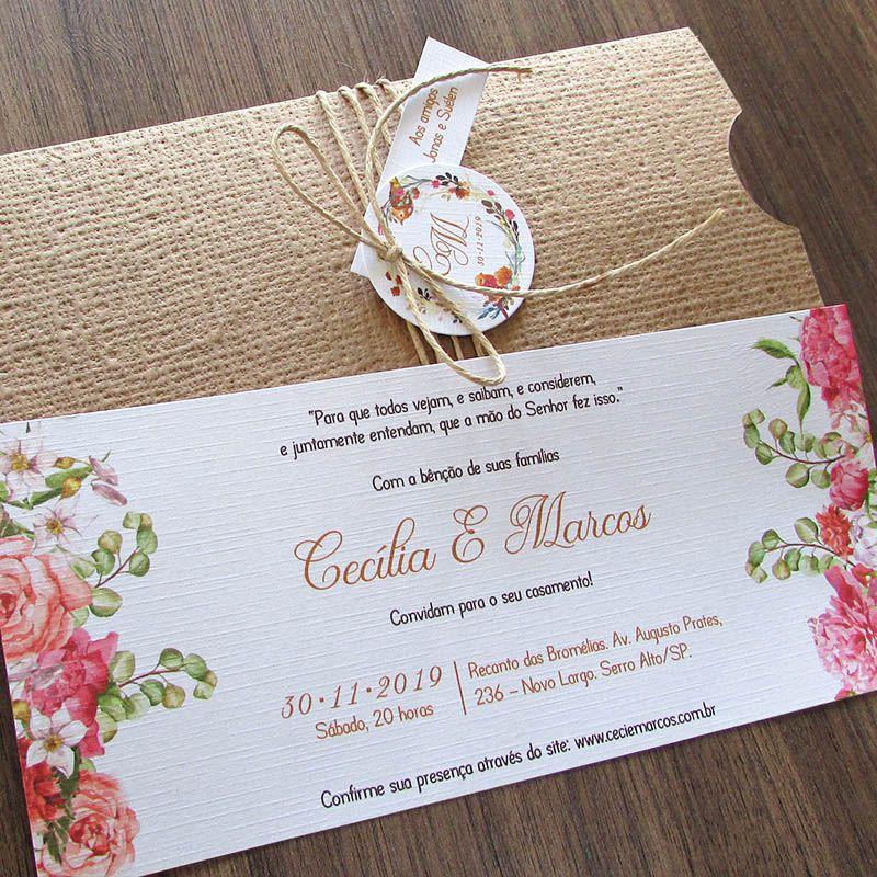 Convite Casamento Essência
