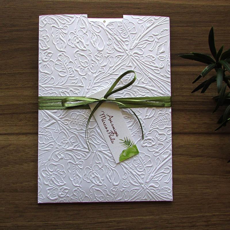 Convite Casamento Folhas