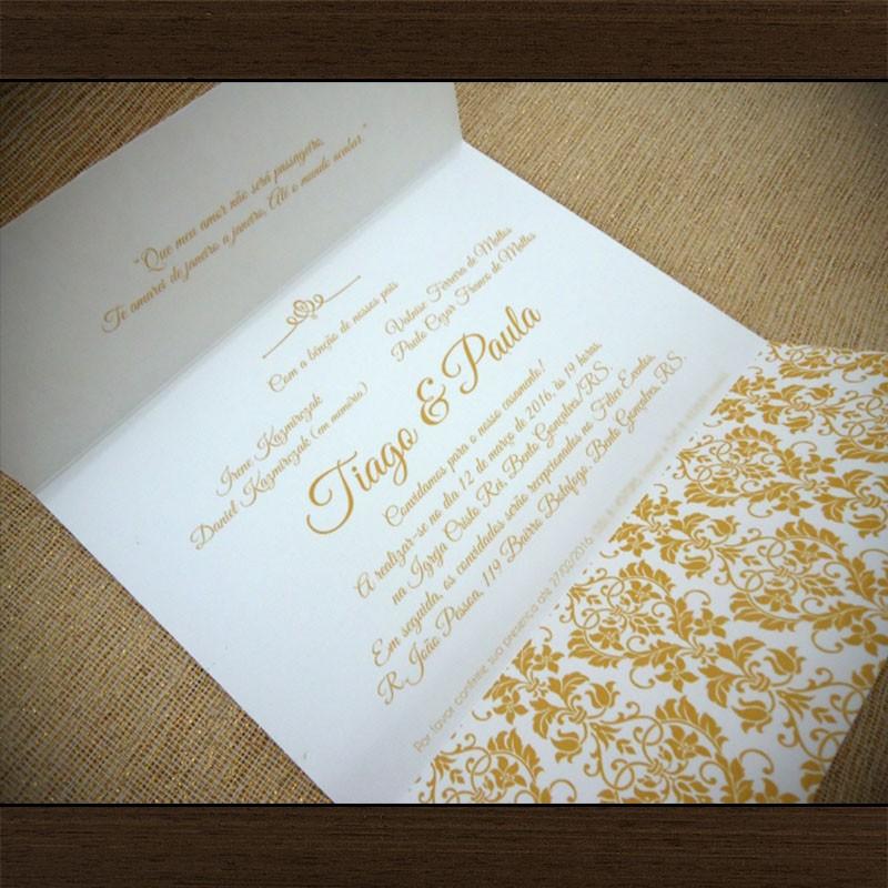 Convite Casamento Glamour