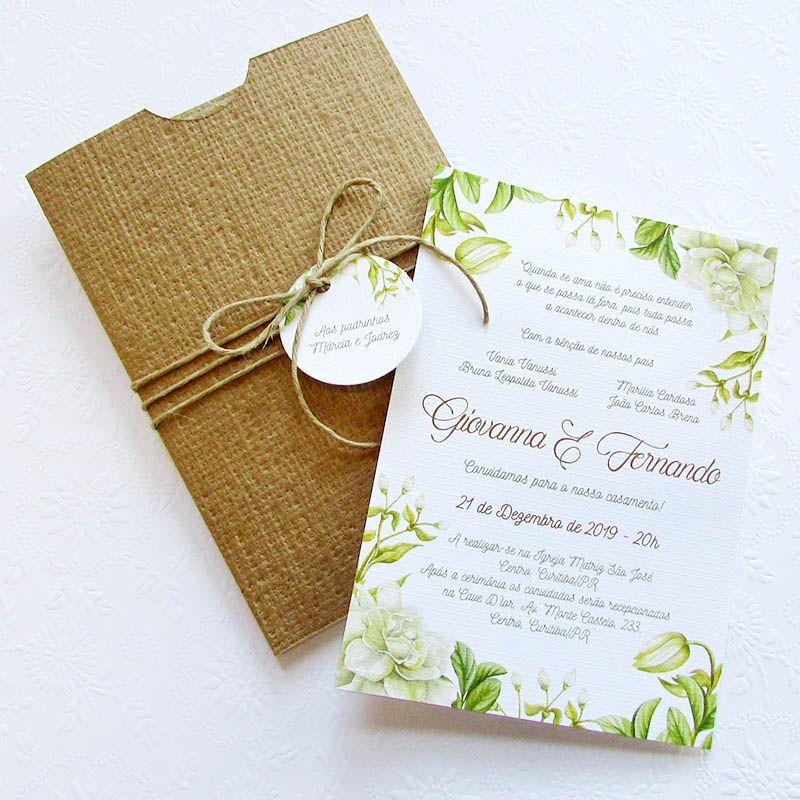 Convite Casamento Green