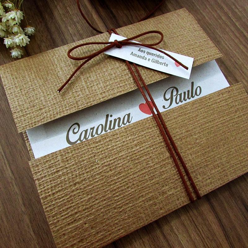 Convite Casamento Linho