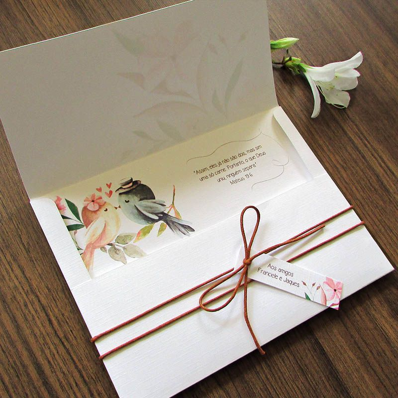 Convite Casamento Love