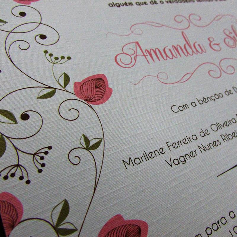 Convite Casamento Maitê Rendado