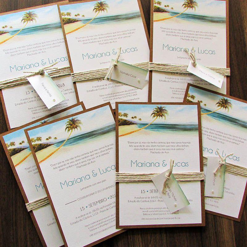 Convite Casamento na Praia