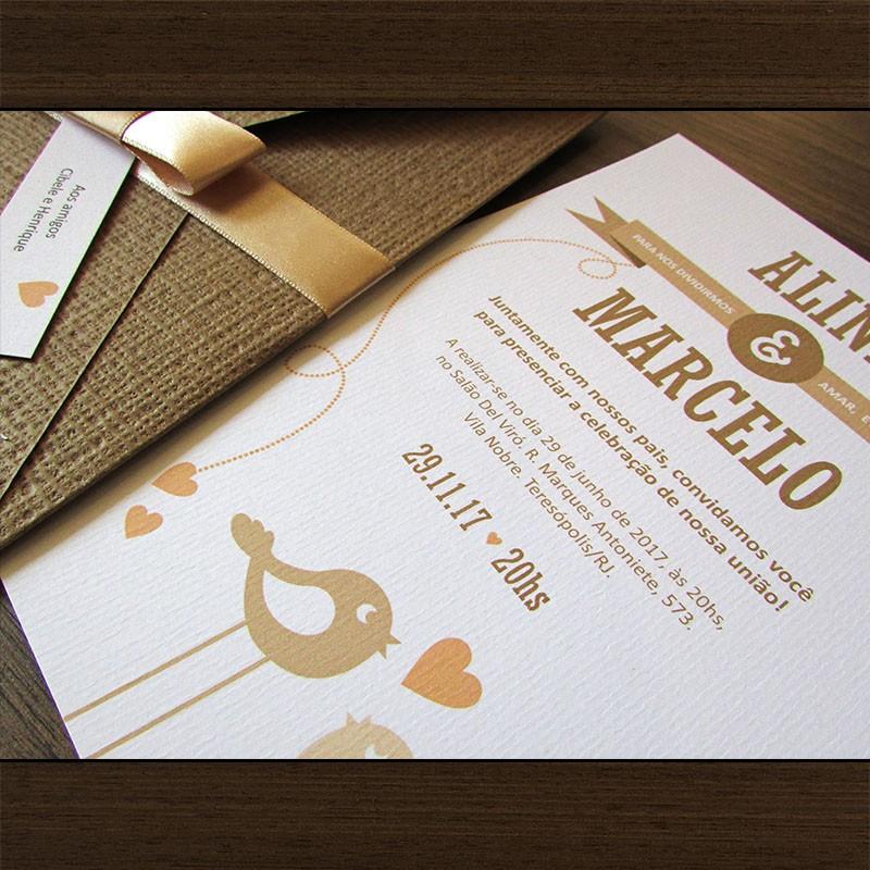 Convite Casamento Namour