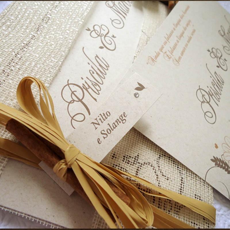 Convite Casamento Natureza