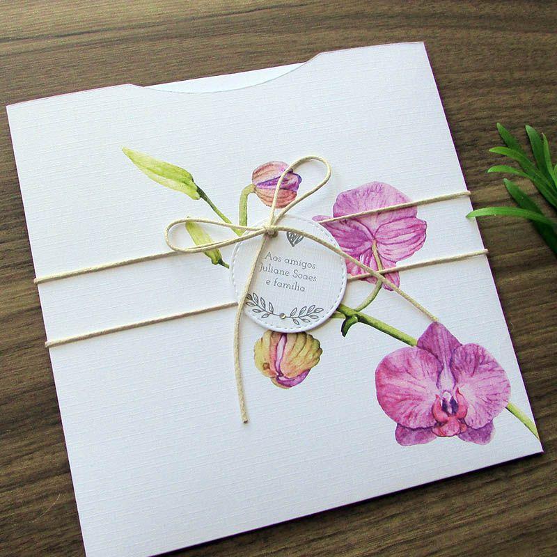 Convite Casamento Orquídea