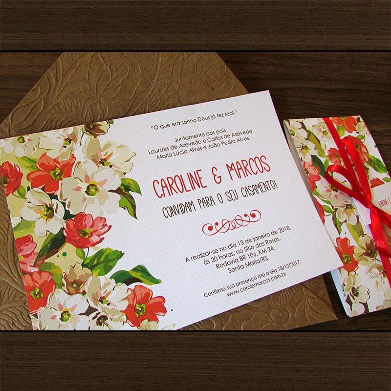 Convite Casamento Paixão
