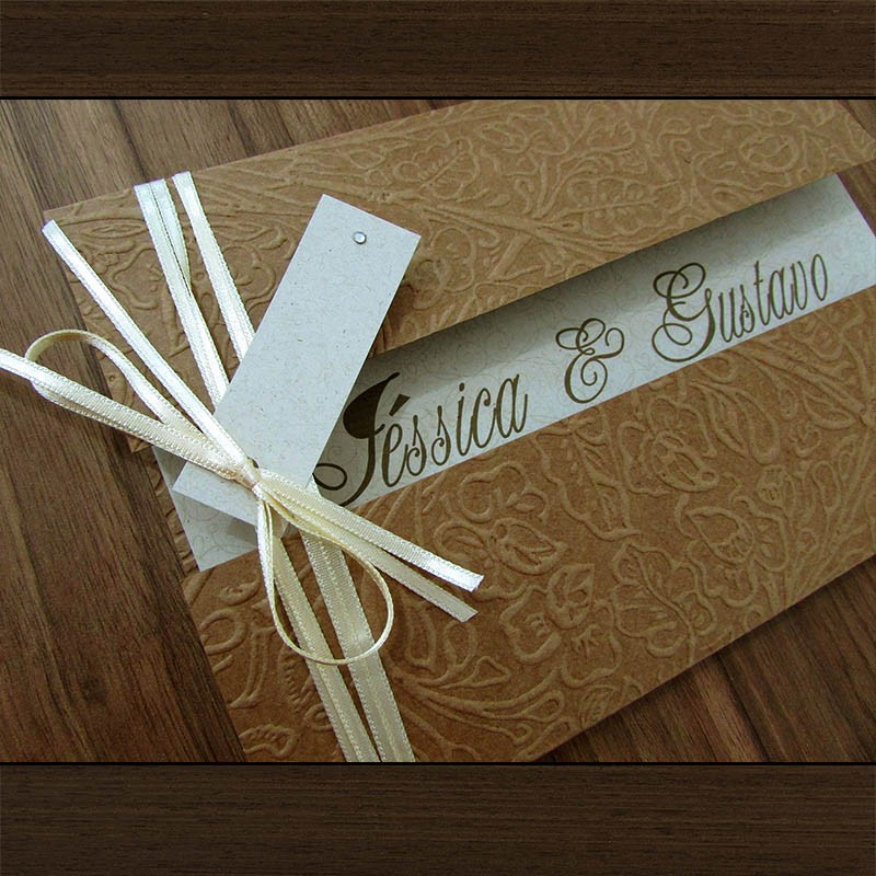 Convite Casamento Província rústico