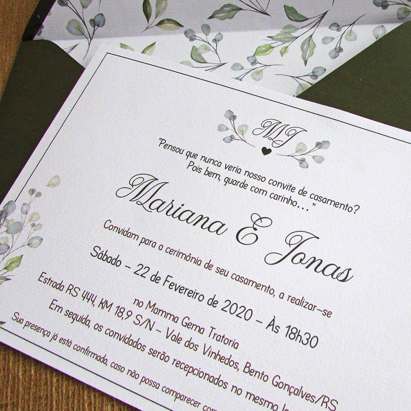 Convite casamento Refúgio