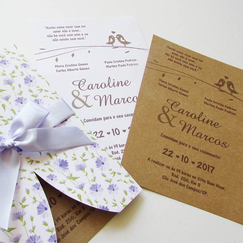 Convite Casamento Soft