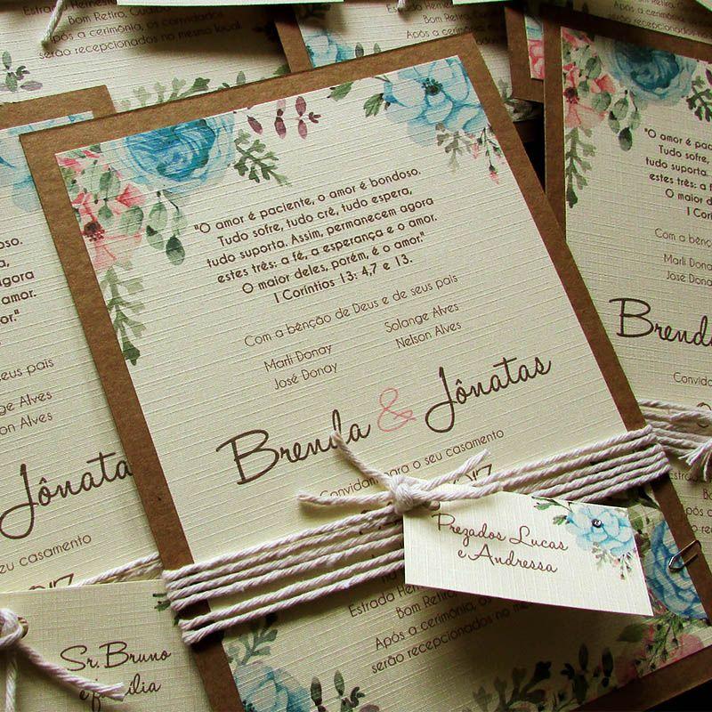 Convite Casamento Sublime