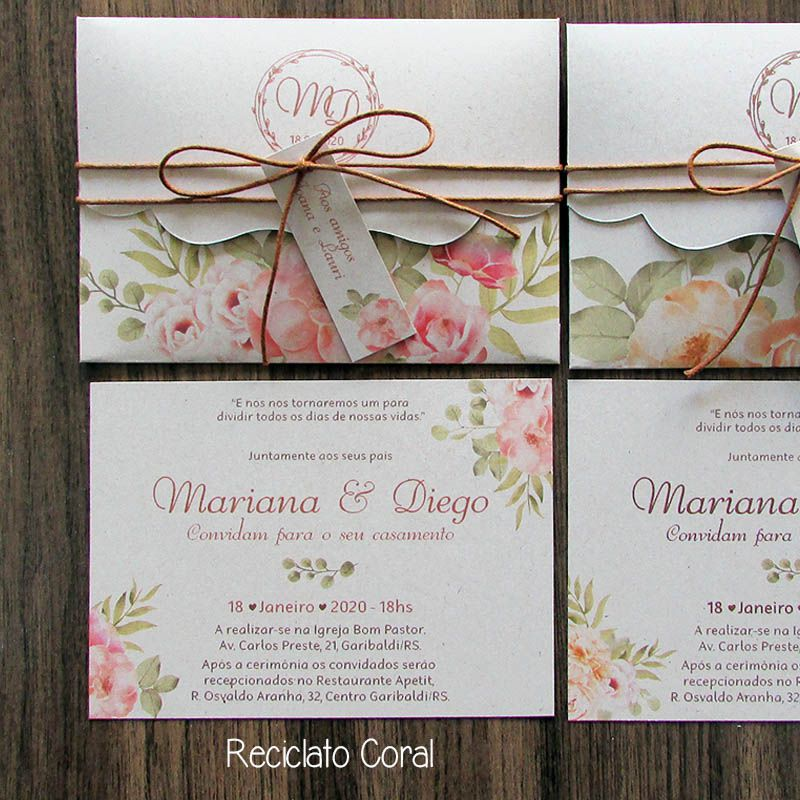 Convite Casamento Ternura - Branco