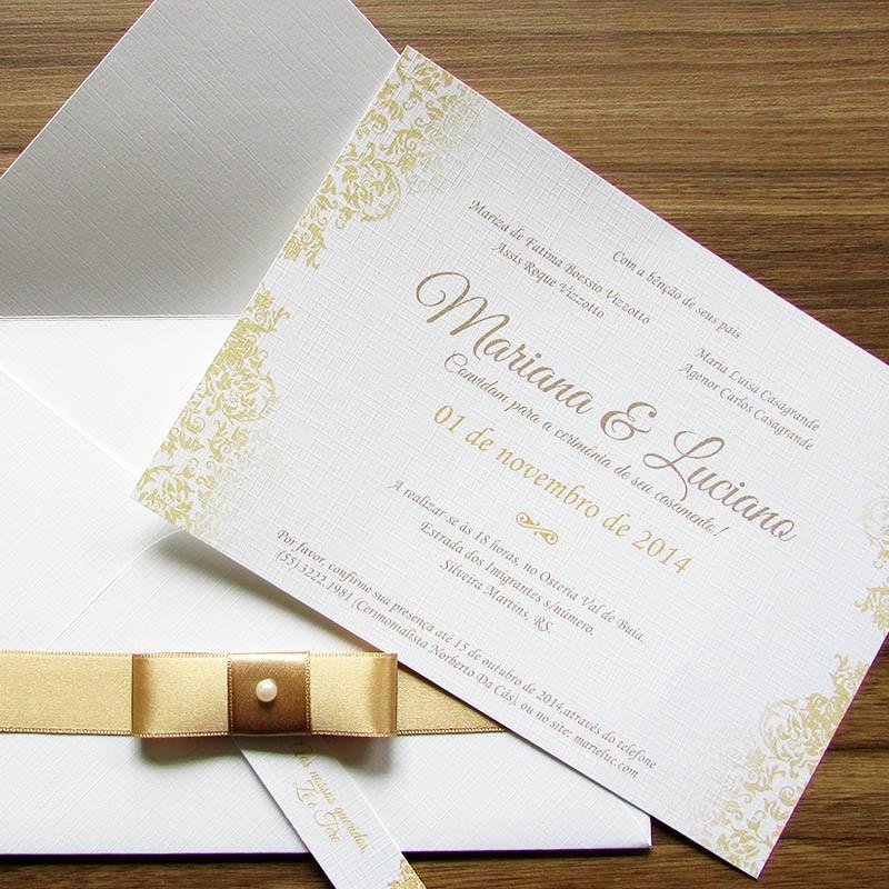 convite Casamento tradicional