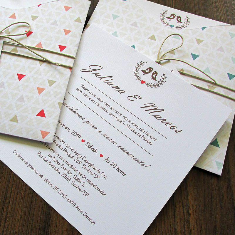 Convite Casamento Triângulos