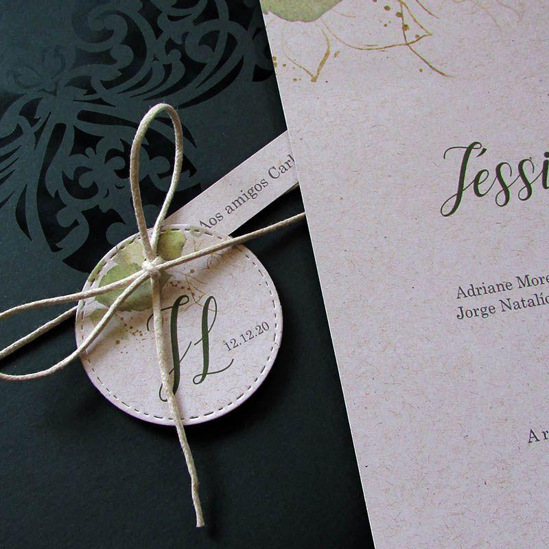 Convite Casamento verde Santiago