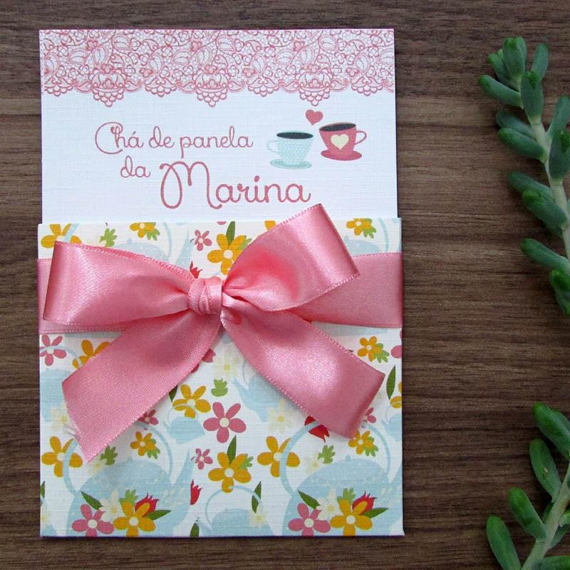 Convite chá Jardim de amor