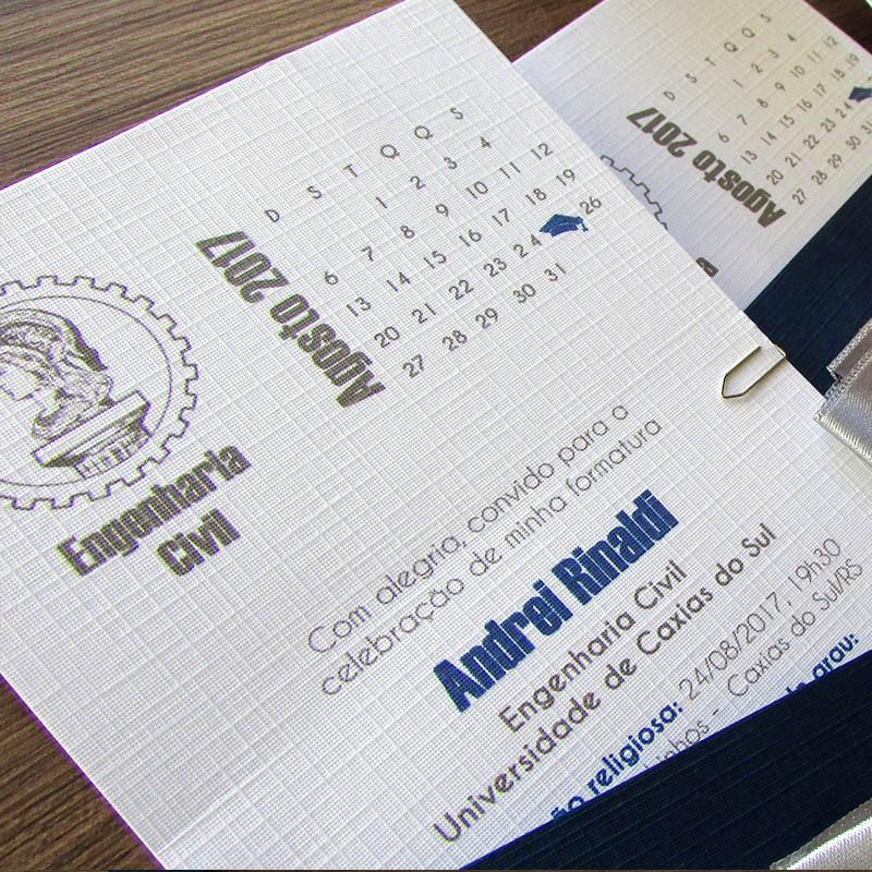 Convite Formatura Marinho