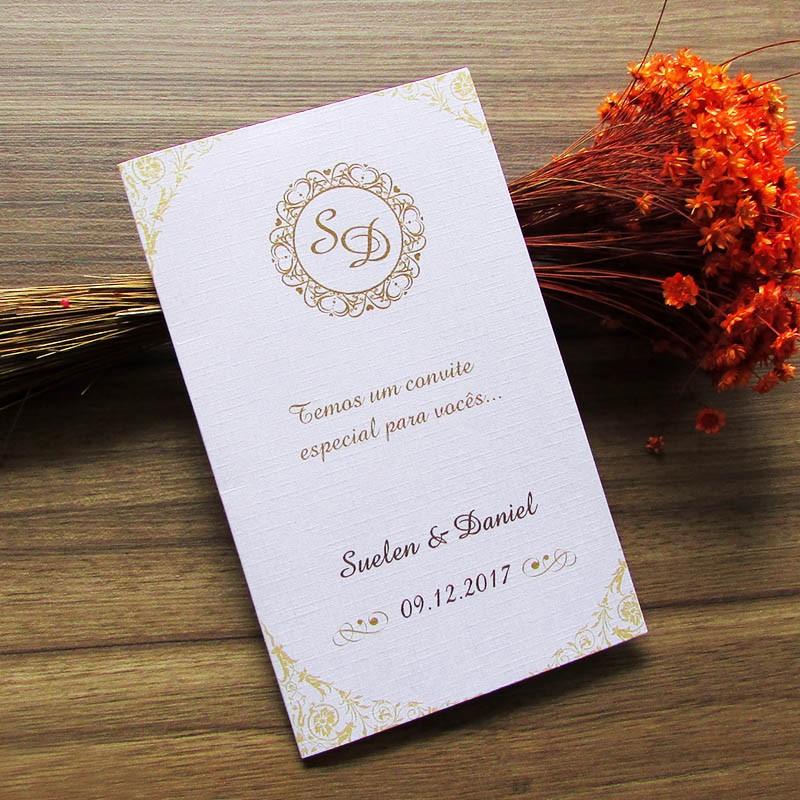 Convite padrinhos manual