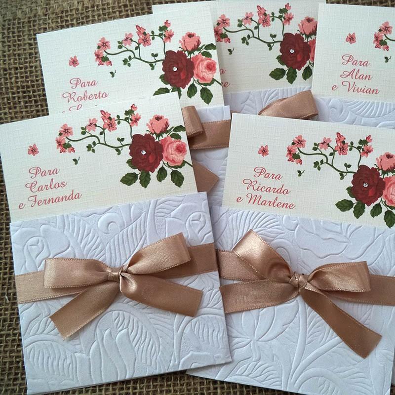 Convite para padrinhos envelope