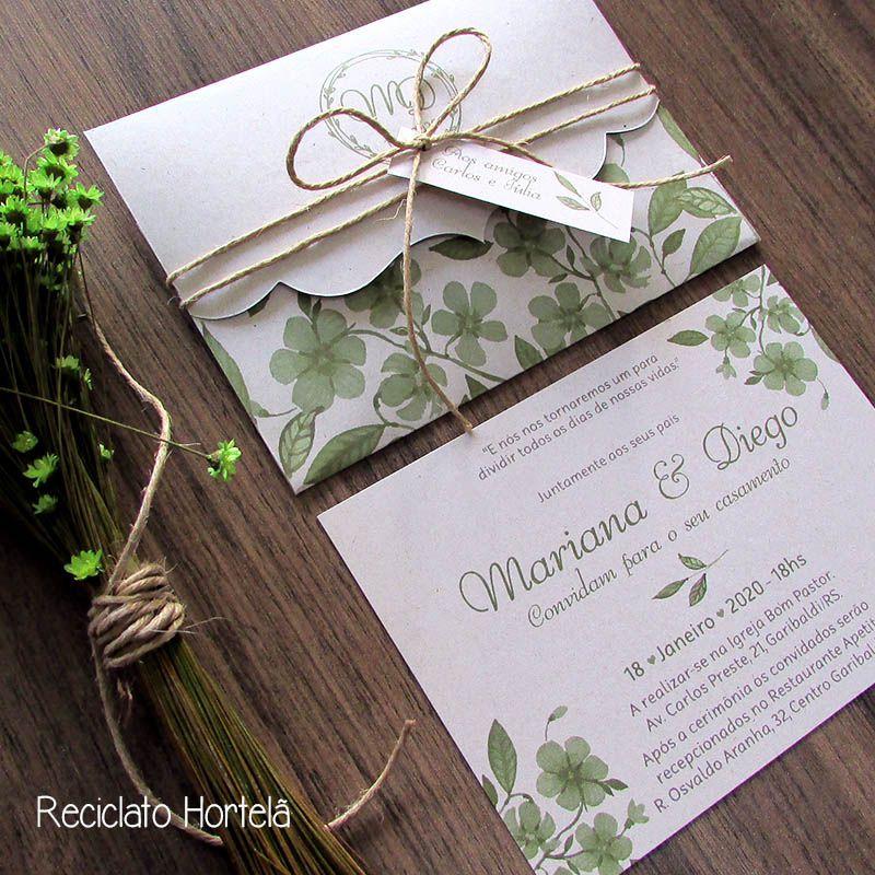Convite Casamento Ternura - Rústico