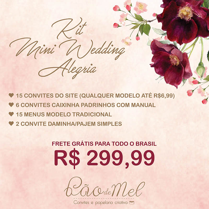 KIT MINI WEDDING ALEGRIA