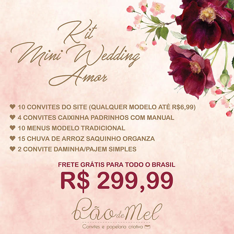 KIT MINI WEDDING AMOR