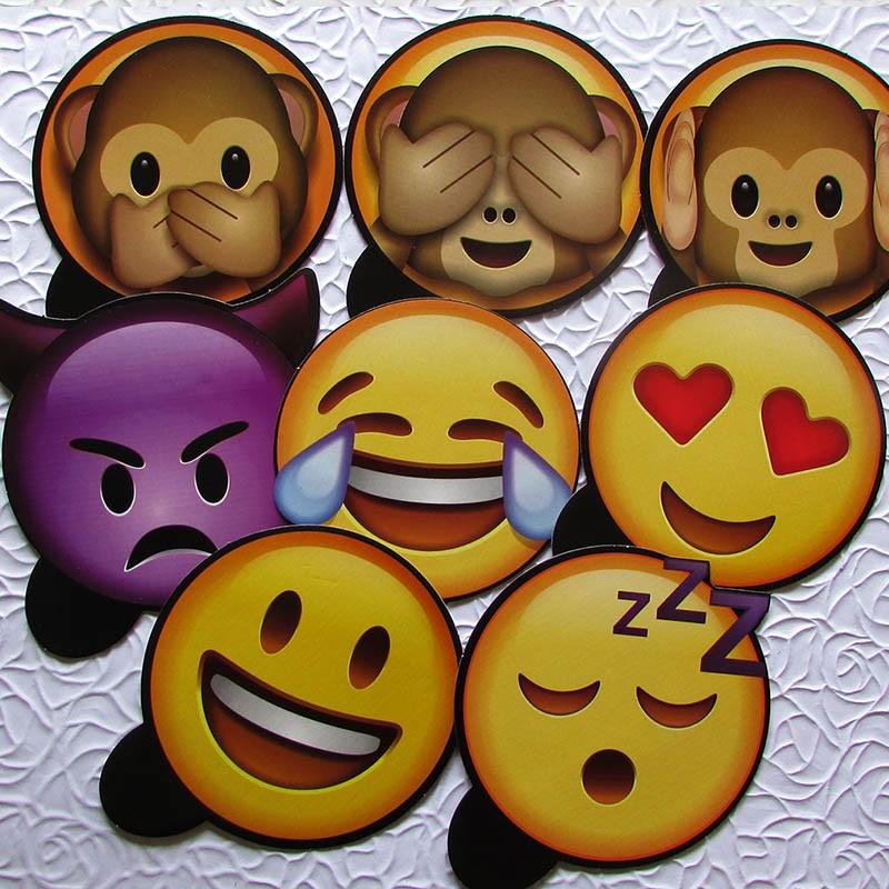 Kit Placas Emoji Carinhas Sapecas