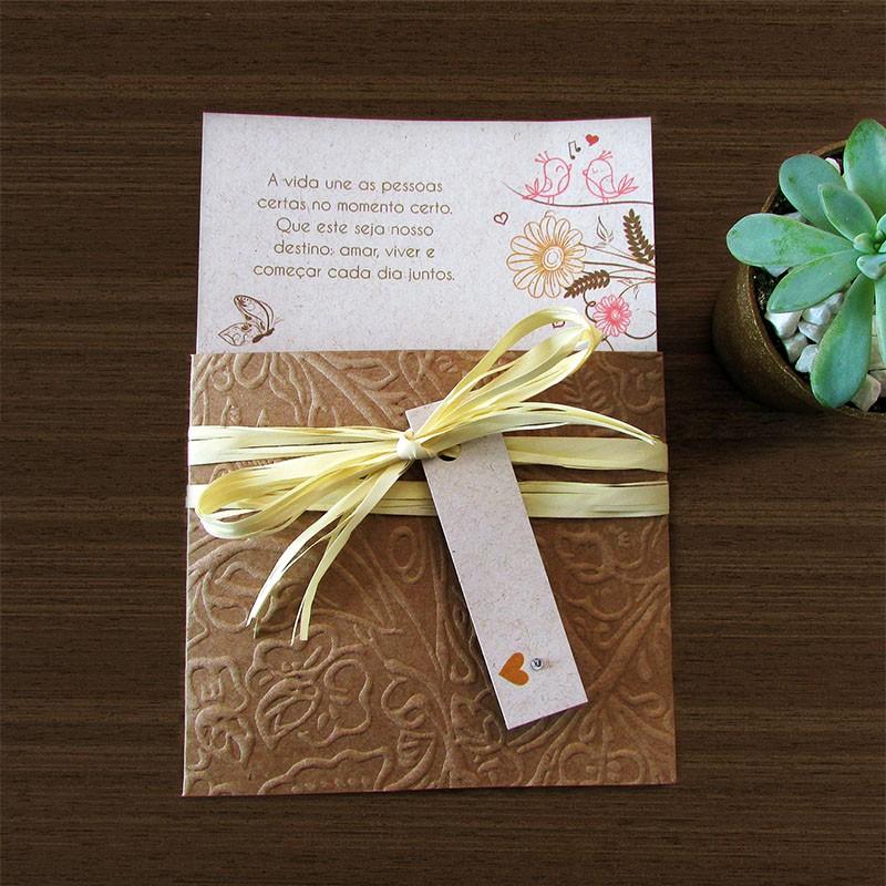 Mini Convite Casamento Apaixonado