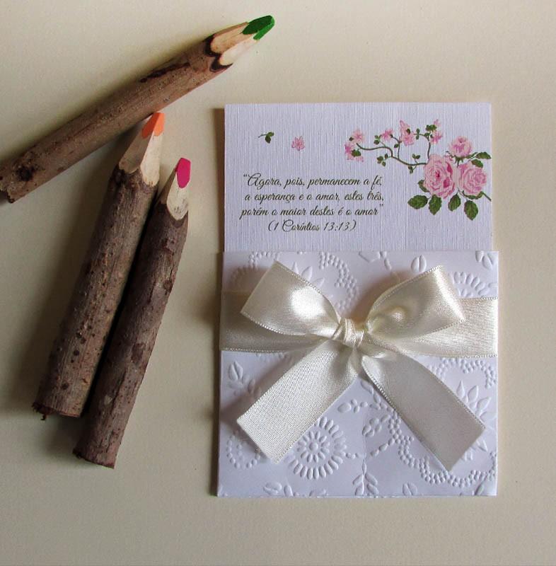 Mini Convite Casamento Hortência