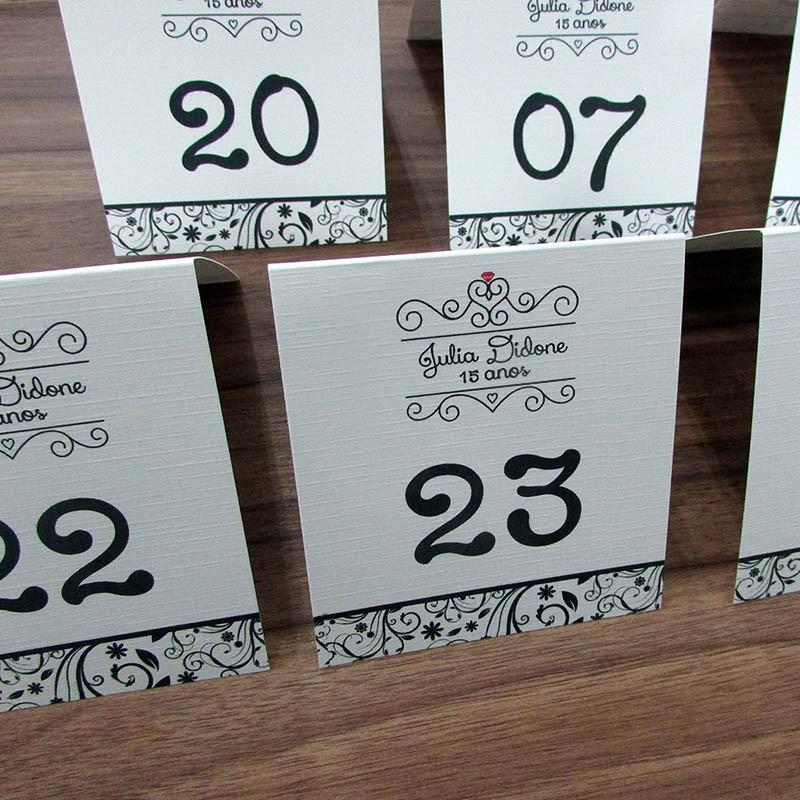 Numeração de mesa simples