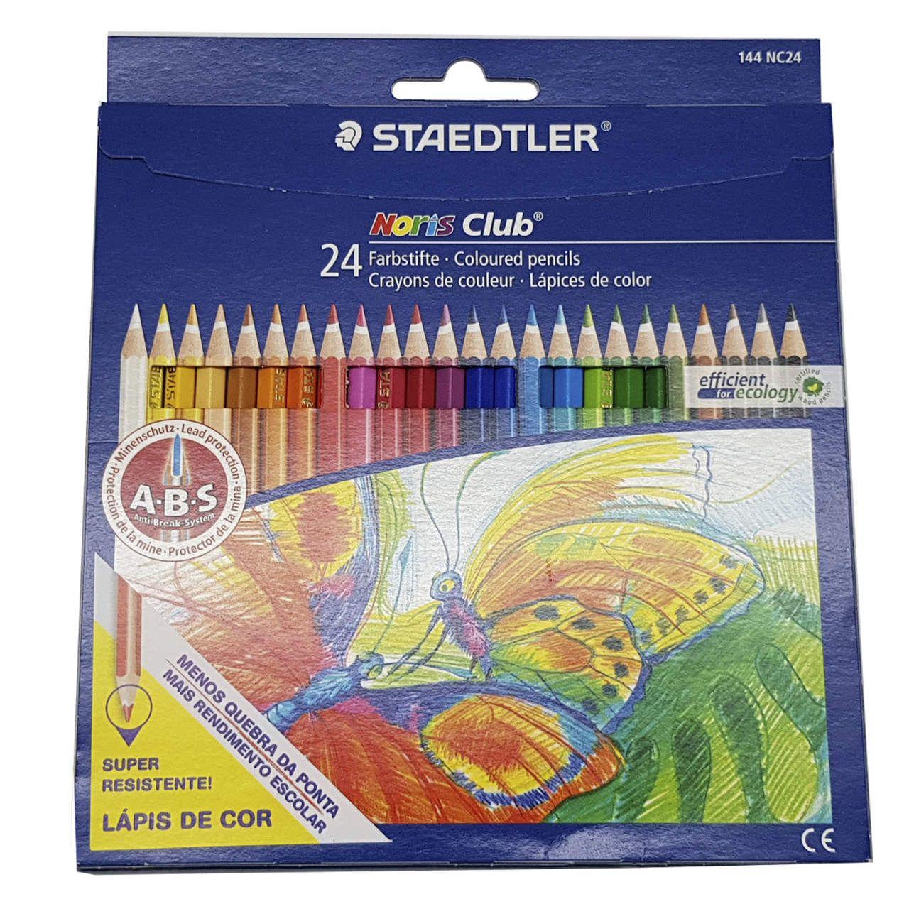 04bdf1df98 Lápis de cor Noris Club 144 - Caixa c  24 cores - Staedtler - PEN ...