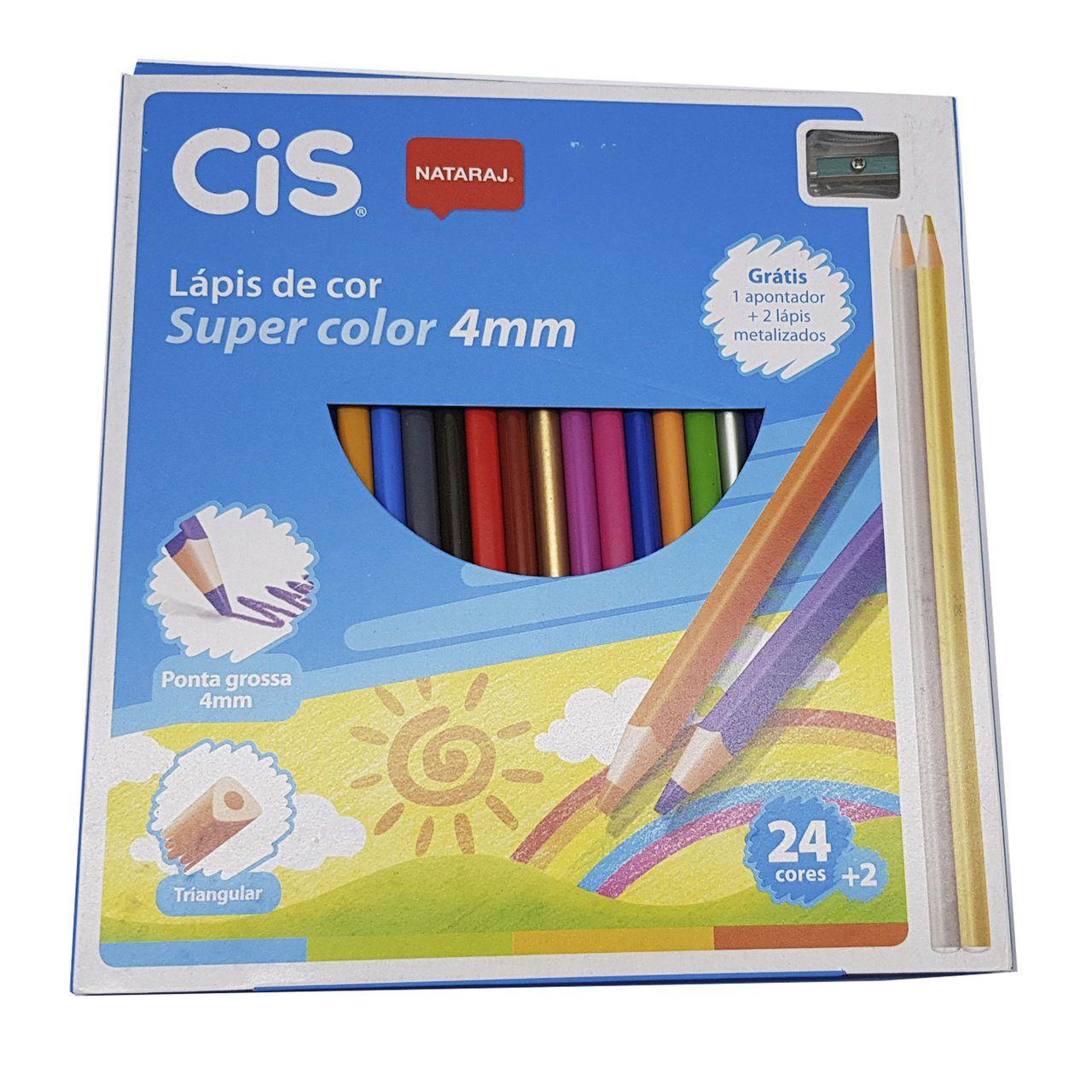 fa625639c1 Lápis de cor Super Color caixa com 24 cores. - CIS