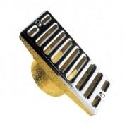 Dispositivo Ralo Quebra Onda 15x8cm em Latão e Inox para Piscina de Alvenaria - Inaqua