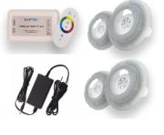 Kit 04 Refletor LED RGB 9W Piscina com até 64m² controle Touch