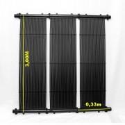 Kit Aquecedor Solar Piscina com até 20m² e/ou até 28 mil litros TekSol, Controlador Bivolt