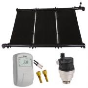 Kit Aquecimento Solar para Piscina 18m² Ks Aquec. Controlador 220V