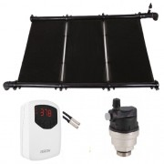 Kit Aquecimento Solar para Piscina até 20m² e/ou 27 mil litros Ks Aquec. Controlador Bivolt