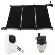 Kit Aquecimento Solar Piscina Até 15m² e/ou 21 mil litros KS Aquec. Controlador Bivolt