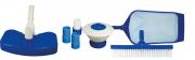 Kit Básico para Limpeza de Piscina Fibra, Alvenaria e Vinil 7 Peças - Brustec