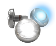 Refletor Power LED Azul 6,0w Acab. Inox Tholz