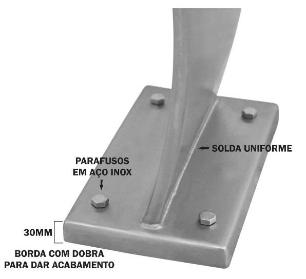 Cascata Piscina em aço inox 316 Naja 1,05m