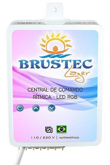 Central de Comando LED RGB 3A Rítmica 2 Aux - Brustec
