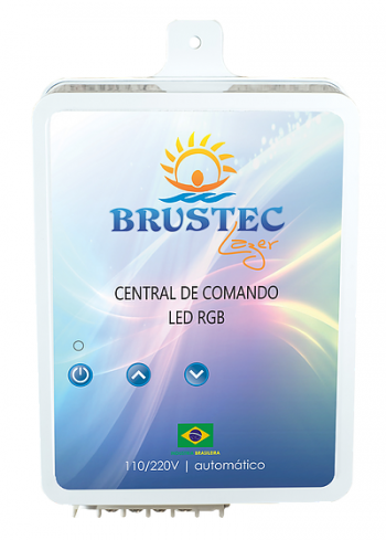 Central de Comando LED RGB 6A 2 aux - Brustec