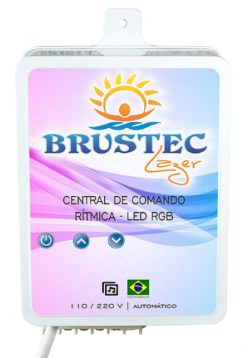 Central de Comando LED RGB 6A Rítmica - Brustec